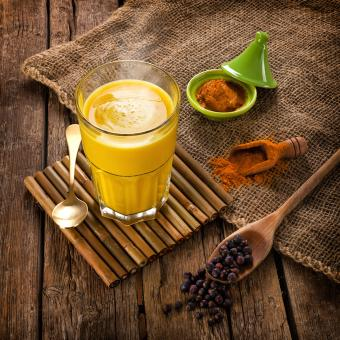 Golden Milk made with turmeric