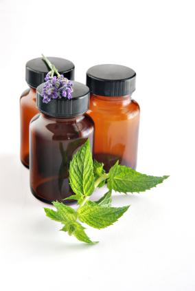 herbal medicine and tincture bottle