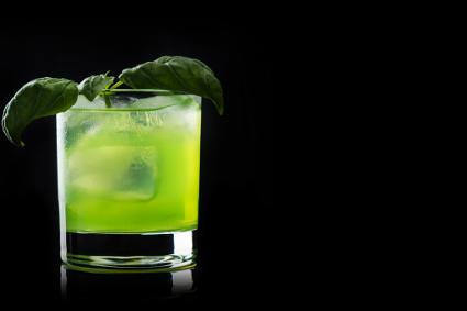 Summer basil drink