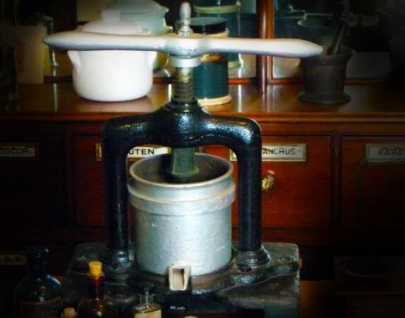 18th century antique tincture press