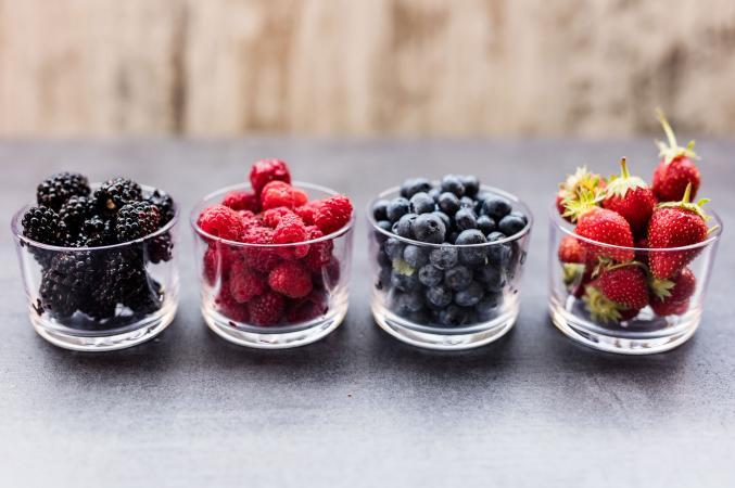 blackberries, raspberries, blueberries and strawberries