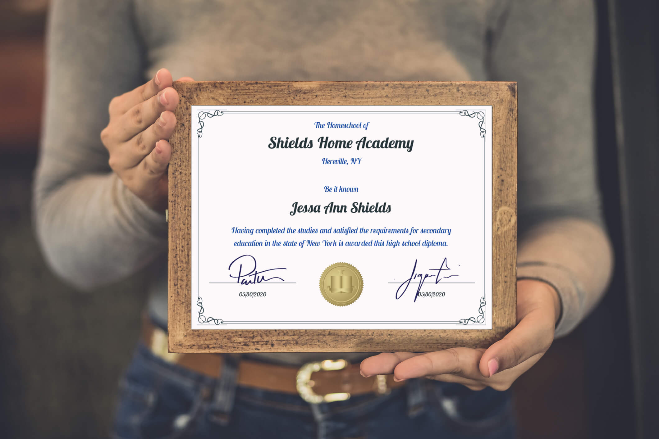 It's just a picture of Printable Home School Diploma intended for certificate completion