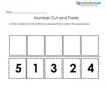 number free kindergarten worksheet