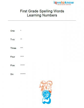 free spelling worksheet for learning numbers