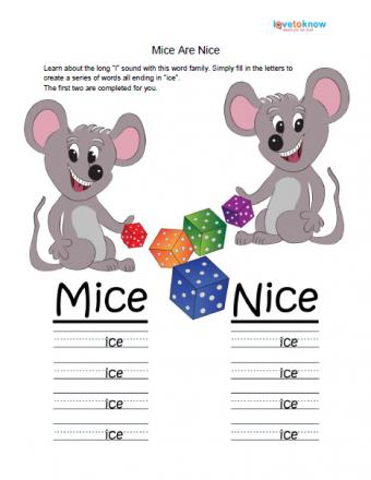 mice are nice worksheet about long