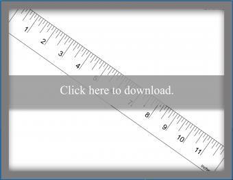 One inch ruler borderless printing