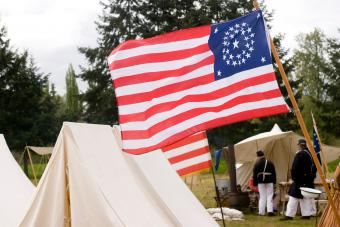 Tents and a Union Flag