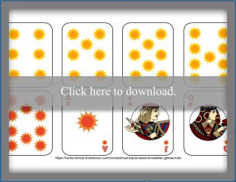 Weather deck of cards