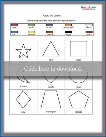 Spanish Colors Worksheet