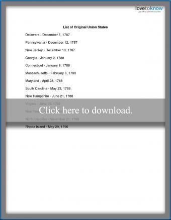List of Original 13 Colonies