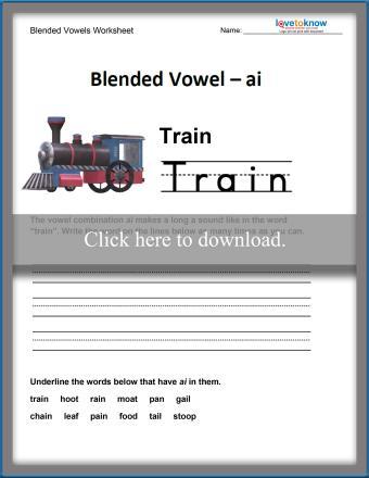 Blended Vowels Worksheet