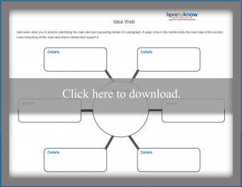 Main Idea Web Worksheet