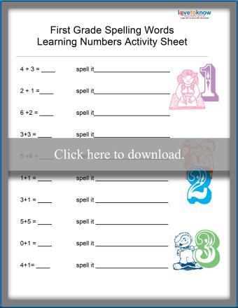 Number Spelling Worksheet