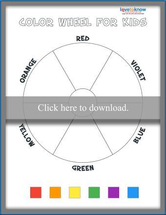 Blank Color Wheel Activity
