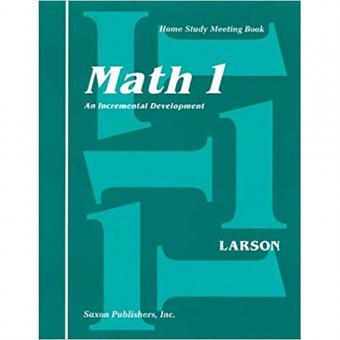 Saxon Math 1 Homeschool