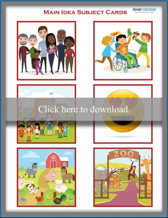 Common Picture Book Theme cards