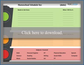 Special Education Homeschool Schedule Template