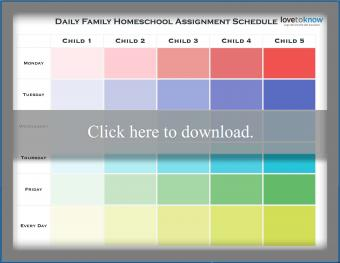 Daily Family Homeschool Schedule Template