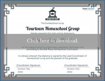 Homeschool Group Diploma Template