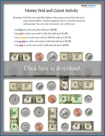 Money Find and Count Activity