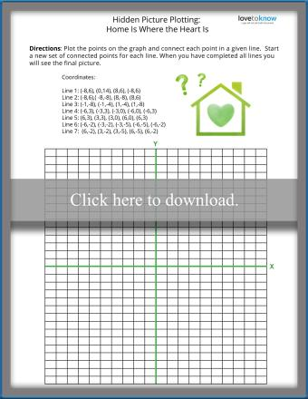 Simple Coordinate Graphing Hidden Picture Worksheet