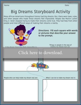 Big Dreams Storyboard Activity