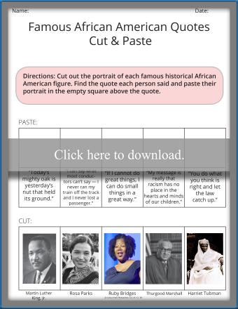 Famous African American Quotes Cut & Paste