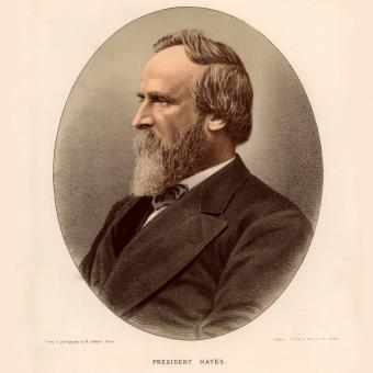 Portrait of US President Rutherford B. Hayes