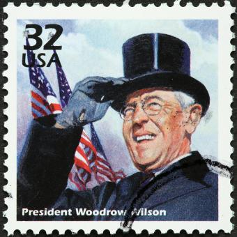 Early 1900s US president, Woodrow Wilson