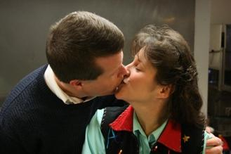 Jim Bob and Michelle Duggar Kissing