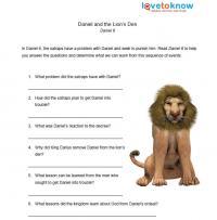 daniel and the lion's den