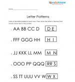 letter patterns free kindergarten worksheet