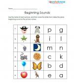 beginning sounds free kindergarten worksheet