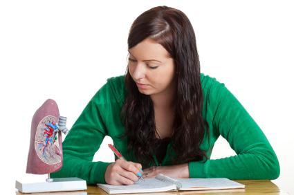 teen doing science