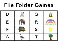 letter sounds file folder game