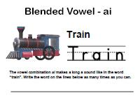 blended vowels worksheet