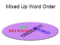 mixed up word order
