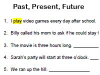 past, present, future worksheet