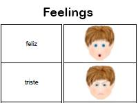 feelings Spanish worksheet