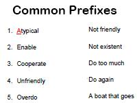 common prefixes worksheet