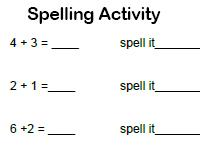 first grade spelling activity worksheet