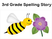 third grade high frequency word spelling story activity