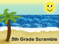 fifth grade spelling word scramble activity