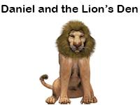 Daniel and the lion's den