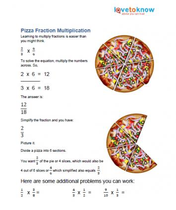 pre-algebra printable on fractions