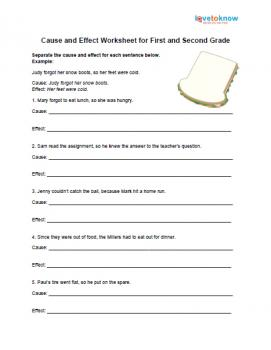 All Worksheets cause and effect worksheets : Identifying Cause And Effect Worksheets