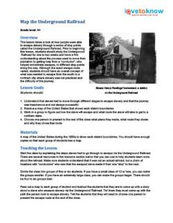 underground railroad lesson plan