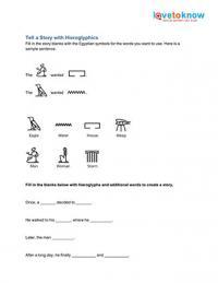 Hieroglyphics Worksheets | LoveToKnow
