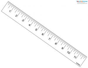 One inch ruler borderless printing