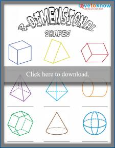 3-Dimensional Shapes Worksheet
